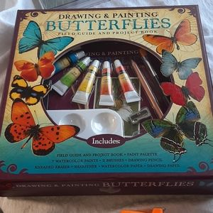 Drawing and painting butterfly kit NWT